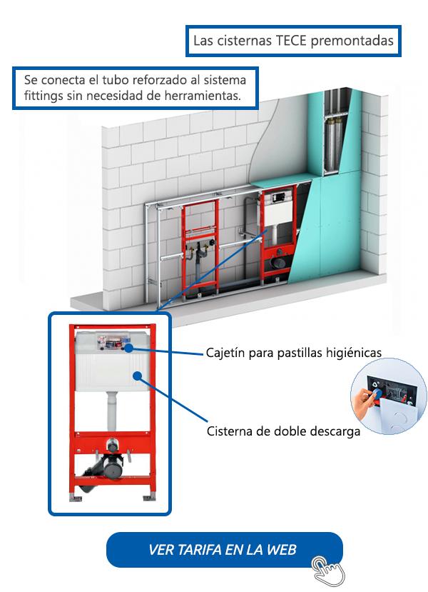 TECE cisternas de empotrar en Saneamientos Dimasa