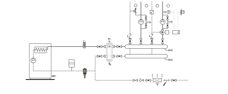 Esquema desfangador magnético en Dimasa